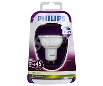 Philips Foco led 5W( equivalencia 50W) ,casquillo GU10, blanca cálida, 230V Forma MR16 No regulable 1 Unidad