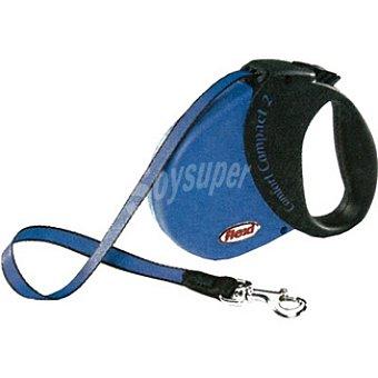 BIOZOO AXIS FLEXI CONFORT Correa extensible color azul-negro cordón de 5 metros para perros de peso aproximado 50 kg 1 unidad