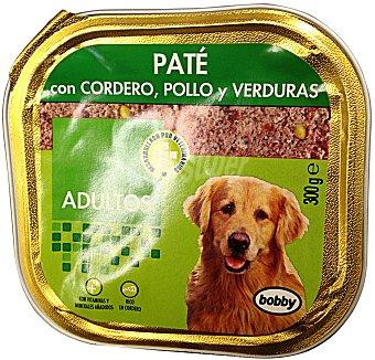 Bobby Comida perro adulto pate cordero pollo Tarrina 300 g