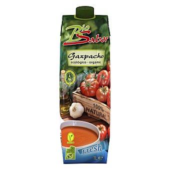 Biosabor Gazpacho ecológico sin gluten con aceite de oliva virgen extra Brik 1 l