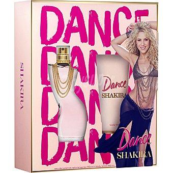 Shakira Dance eau de toilette natural femenina + body lotion tubo 50 ml spray 50 ml