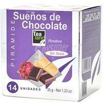 TEALAND Té rooibos sueños chocolate 14 piramides