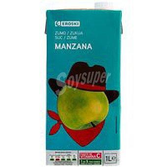 Eroski Zumo de manzana Brik 1 litro