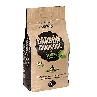 LOS RIVERA Carbón vegetal Bolsa 3 kg