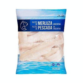 Hacendado Merluza congelada filete sin piel argentina Paquete 970 g
