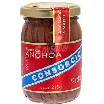 Consorcio Filetes de anchoa en aceite de oliva Frasco 140 g neto escurrido