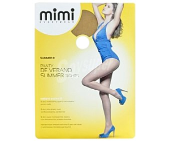 MIMI summer Panty 8 den super transparente mimi de verano, color sole, talla M