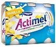 Yogur líquido vainilla Pack 6 x 100 ml Actimel Danone