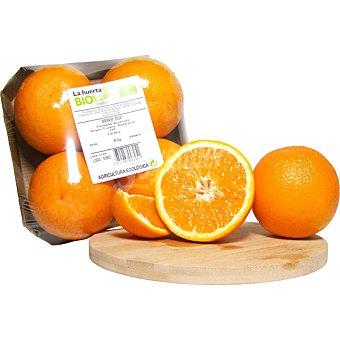 LA HUERTA Naranja de mesa ecológica Bandeja de 1,2 kg peso aproximado