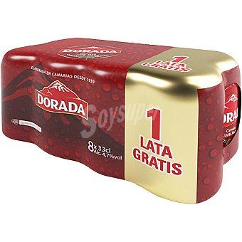 Dorada Cerveza dorada 7 latas de 33 cl