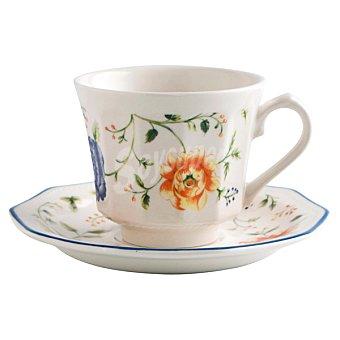 CHURCHILLS Camille Juego de 2 tazas de café con plato con dibujo de flores