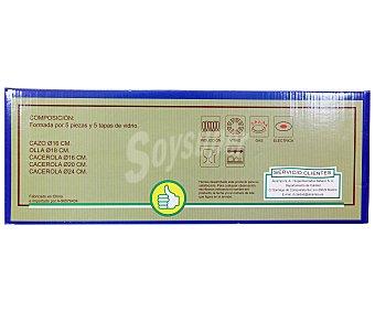 PRODUCTO ECONÓMICO ALCAMPO Bateria de cocina de baquelita, compuesta de cacerolas, cazos y tapas de diferentes tamaños 1 Unidad