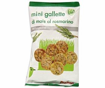 Auchan Mini tortitas de maíz al romero ecológicas 50 Gramos