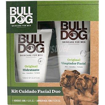 Bulldog Kit cuidado facial masculino con crema hidratante original + limpiador facial original tubo 150 ml tubo 100 ml