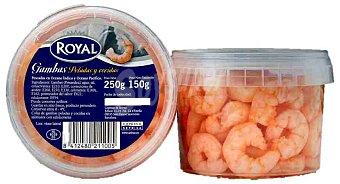 Royal Colas de gambas peladas y cocidas Tarrina 150 g neto escurrido