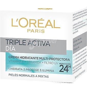 Dermo Expertise L'Oréal Paris Triple activa día cuidado hidratante multiprotectora piel normal a mixta Tarro 50 ml