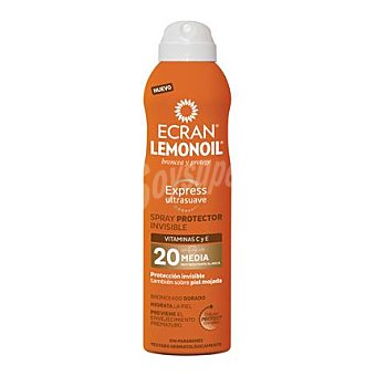 Ecran Aftersun Spray protector invisible FP 20 Lemonoil 250 ml