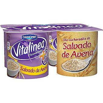 Vitalinea Danone Vitalinea con trozos Salvado de avena Pack de 4x125 g