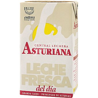 Central Lechera Asturiana Leche entera fresca Brick 1 l