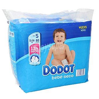 Dodot Pañales de la talla 5 niños 11-16 kg Paquete 80 u