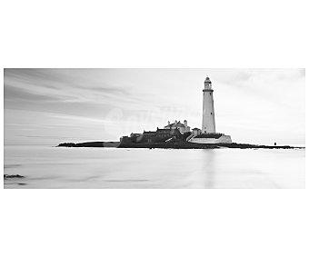 IMAGINE Cuadro con la imagen en blanco y negro de una isla con un faro y dimensiones de 20x50 centímetros 1 unidad