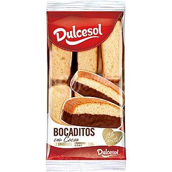 Dulcesol Bocaditos de bizcocho con baño de chocolate Envase 330g (9 unidades)