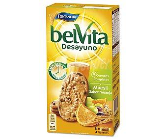 Belvita Fontaneda Galletas de muesli con sabor a naranja 300 gramos