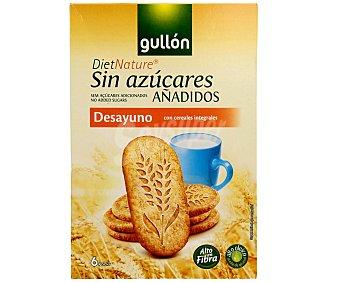 Gullón Galletas desayuno con cereales integrales y edulcorante 216 g