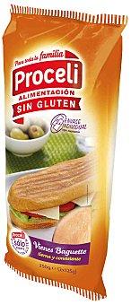 Proceli Pan Vienes Baguette sin Gluten proceli (2 unidades) 250 g