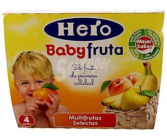 Hero Baby Tarrito todofruta multifrutas Pack 4x100 g