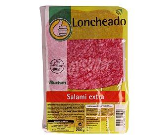 Productos Económicos Alcampo Salami extra loncheado 200 gramos
