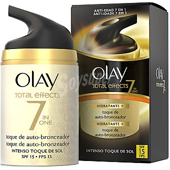 Olay Total Effects 7 en 1 crema hidratante de día anti-edad + un toque de auto-bronceador frasco 50 ml SPF-15 intenso toque de sol Frasco 50 ml