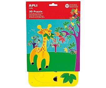 APLI Puzzle 3D de goma eva con forma de jirafa. Edad recomendada de 4 a 8 años 1 unidad