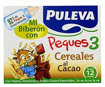 PULEVA PEQUES Leche de Crecimiento con cereales/cacao Puleva Peques 3 Pack 3 unidades de 200 Mililitros