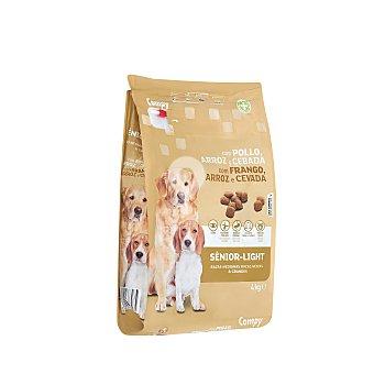 Comida perro seca con pollo arroz y cebada light senior razas medianas y grandes