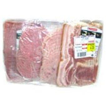 Eroski Jamón cocido-mortadela-choped-bacón Bandeja 900 g