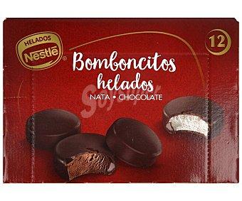 Nestlé Bombones helados de chocolate, rellenos de helado de nata o chocolate Pack 12 x 9.2 g