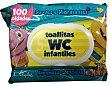 Papel higiénico húmedo toallitas wc infantiles Paquete 100 unidades Deliplus