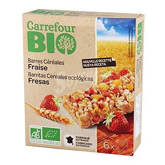 Carrefour Bio Barra cereales fresa 125 g
