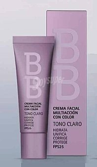 Deliplus Crema facial bb multiaccioncon con color tono claro Tubo 35 cc