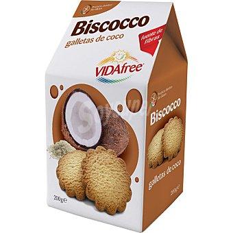 VIDAFREE Galletas de coco sin gluten Envase de 200 g