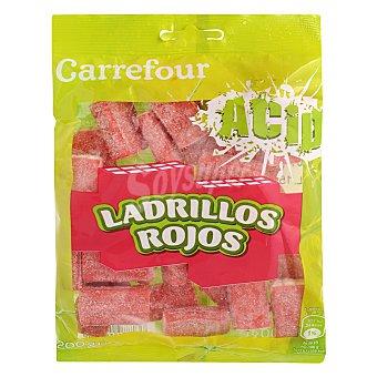 Carrefour Gominolas de ladrillo rojo con relleno blanco y pica pica 200 g