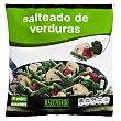 Salteado verduras ( judia verde, cebolla, pimiento rojo, champiñon Y brocoli )congelado Paquete 600 g Hacendado