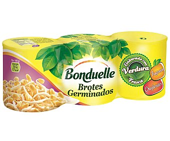 Bonduelle Brotes de soja neto escurrido Pack 3 latas 90 g