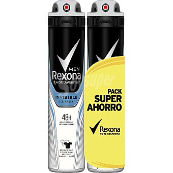 Rexona men desodorante Invisible Ice Pack 2 spray 200 ml