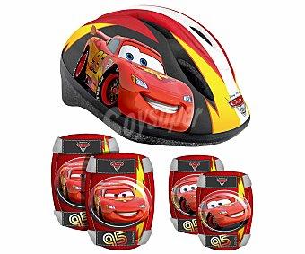 Disney Casco, 2 Coderas y 2 Rodilleras Infantiles, Cars 1 Unidad