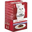 Comida para gatos selección de carnes Mon Petit  Pack 6 x 50 g Purina Gourmet