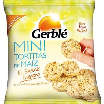 GERBLE Mini tortitas de maíz ricas en fibra y bajas en grasa envase 24 g
