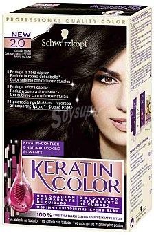 Keratin Color Schwarzkopf Colorante permanente 2 Castaño Ebano 1 ud