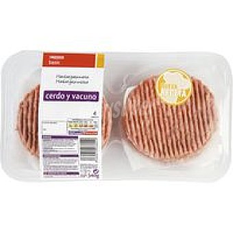 Eroski Basic Hamburguesa mixta Pack de 4x85g